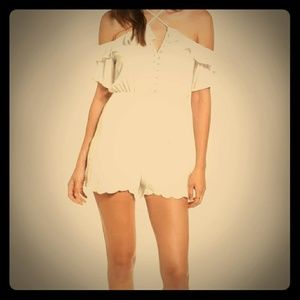 Lush Shorts - NEW LUSH strappy off the shoulder romper